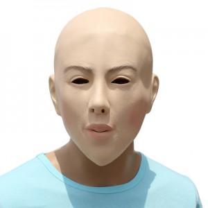 BeautyMask Halloween DIY Masquerade Props Bald Beauty Mask Plays Latex Mask