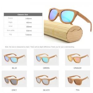 cross-border bamboo and wood glasses, coated full bamboo polarized sunglasses, wood retro wholesale sunglasses