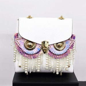 Double-sided cowhide face-changing bag owl vertical chain crossbody bag 2020 new shoulder female small bag