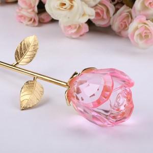 Crystal rose birthday gift for girls on valentine's