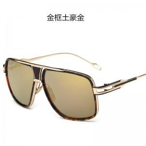 European and American trend men's sunglasses 615 fashion retro metal ladies big frame couple toad mirror round face sunglasses