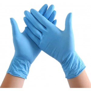 Disposable Nitrile Gloves - Non-Sterile, Food Safe, Latex Free 100 Pack - Comfortable to Wear - Unisex