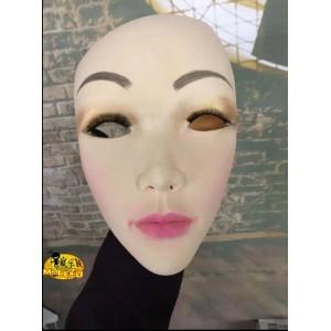 Realistic 3D woman mask COSPLAY sells cute comics, big-eyed beauty, wig, rubber headgear